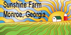 logo sunshine farm, monroe georgia